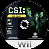 CSI: Hard Evidence Wii disc (RCIE41)