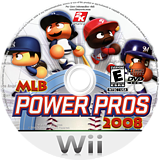 MLB Power Pros 2008 Wii disc (RL8E54)