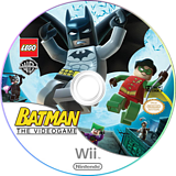 LEGO Batman: The Videogame Wii disc (RLBEWR)