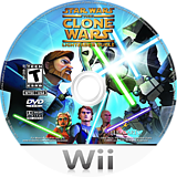 Star Wars The Clone Wars: Lightsaber Duels Wii disc (RLFE64)