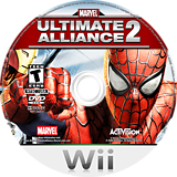 Marvel: Ultimate Alliance 2 Wii disc (RMSE52)