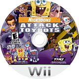Nicktoons: Attack of the Toybots Wii disc (RN3E78)