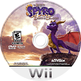 Legend of Spyro: Dawn of the Dragon Wii disc (RO8E7D)