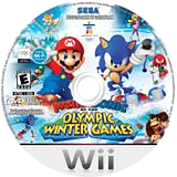Mario & Sonic at the Olympic Winter Games Wii disc (ROLE8P)
