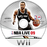 NBA Live 09 All-Play Wii disc (RQ9E69)