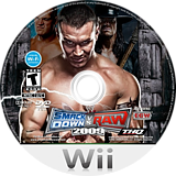 WWE SmackDown vs. Raw 2009 Wii disc (RR9E78)