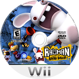 Rayman Raving Rabbids Wii disc (RRBE41)