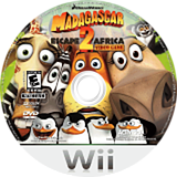 Madagascar: Escape 2 Africa Wii disc (RRGE52)