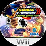Sonic Riders: Zero Gravity Wii disc (RS9E8P)