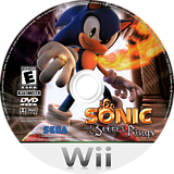 Sonic and the Secret Rings Wii disc (RSRE8P)