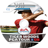 Tiger Woods PGA Tour 08 Wii disc (RT8E69)