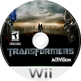 Transformers: The Game Wii disc (RTFE52)
