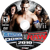WWE SmackDown vs. Raw 2010 Wii disc (RXAE78)