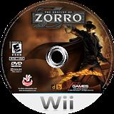 The Destiny of Zorro Wii disc (RZREGT)