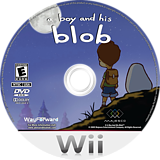A Boy and His Blob Wii disc (SBLE5G)