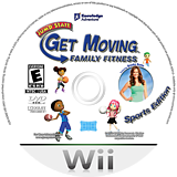 JumpStart Get Moving Family Fitness Wii disc (SJGEPK)