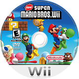 New Super Mario Bros. Wii Wii disc (SMNE01)