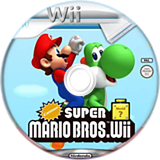 Cannon Super Mario Bros. Wii CUSTOM disc (SMNE04)