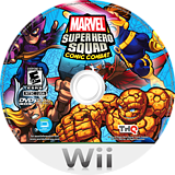 Marvel Super Hero Squad: Comic Combat Wii disc (SMZE78)