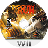 Need for Speed: The Run Wii disc (SNVE69)