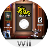 Raving Rabbids: Travel in Time Wii disc (SR4E41)