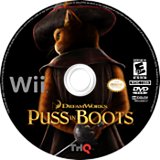 Puss in Boots Wii disc (SSBE78)