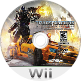 Transformers: Dark of the Moon - Stealth Force Edition Wii disc (STZE52)