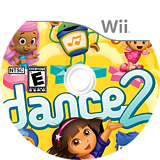 Nickelodeon Dance 2 Wii disc (SU2E54)