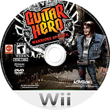 Guitar Hero: Warriors of Rock Wii disc (SXIE52)