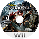 Cabela's Survival: Shadows of Katmai Wii disc (SAJE52)