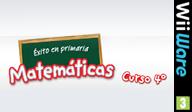 Éxito en primaria Matemáticas curso 4º WiiWare cover (WU4P)