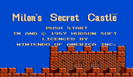 Milon's Secret Castle VC-NES cover (FBSE)
