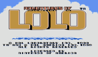 Adventures of Lolo VC-NES cover (FBUE)