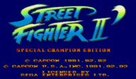 Street Fighter II': Special Champion Edition VC-MD cover (MCLE)