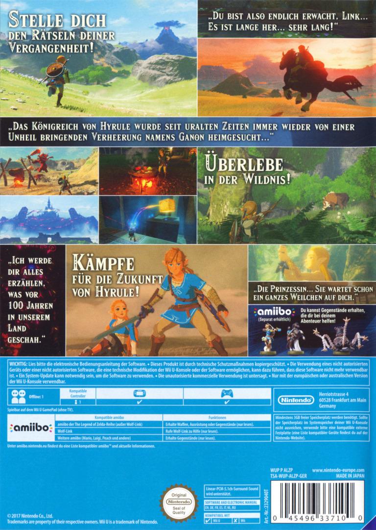 The Legend of Zelda: Breath of the Wild WiiU backHQ (ALZP01)