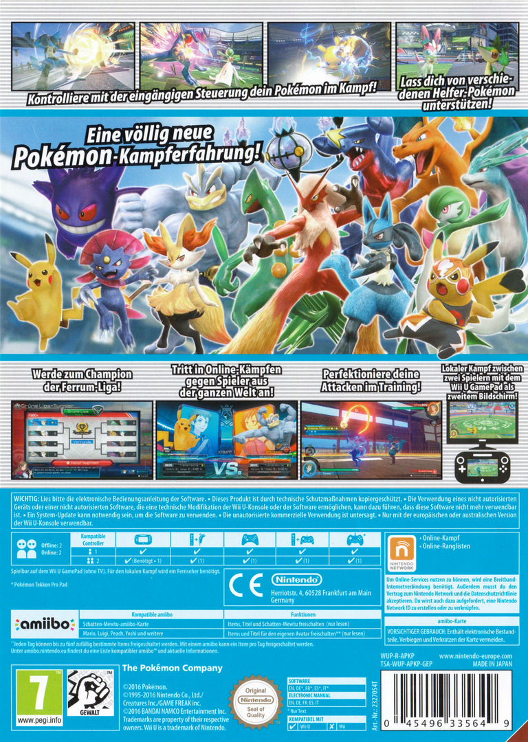 Pokémon Tekken WiiU backHQ (APKP01)
