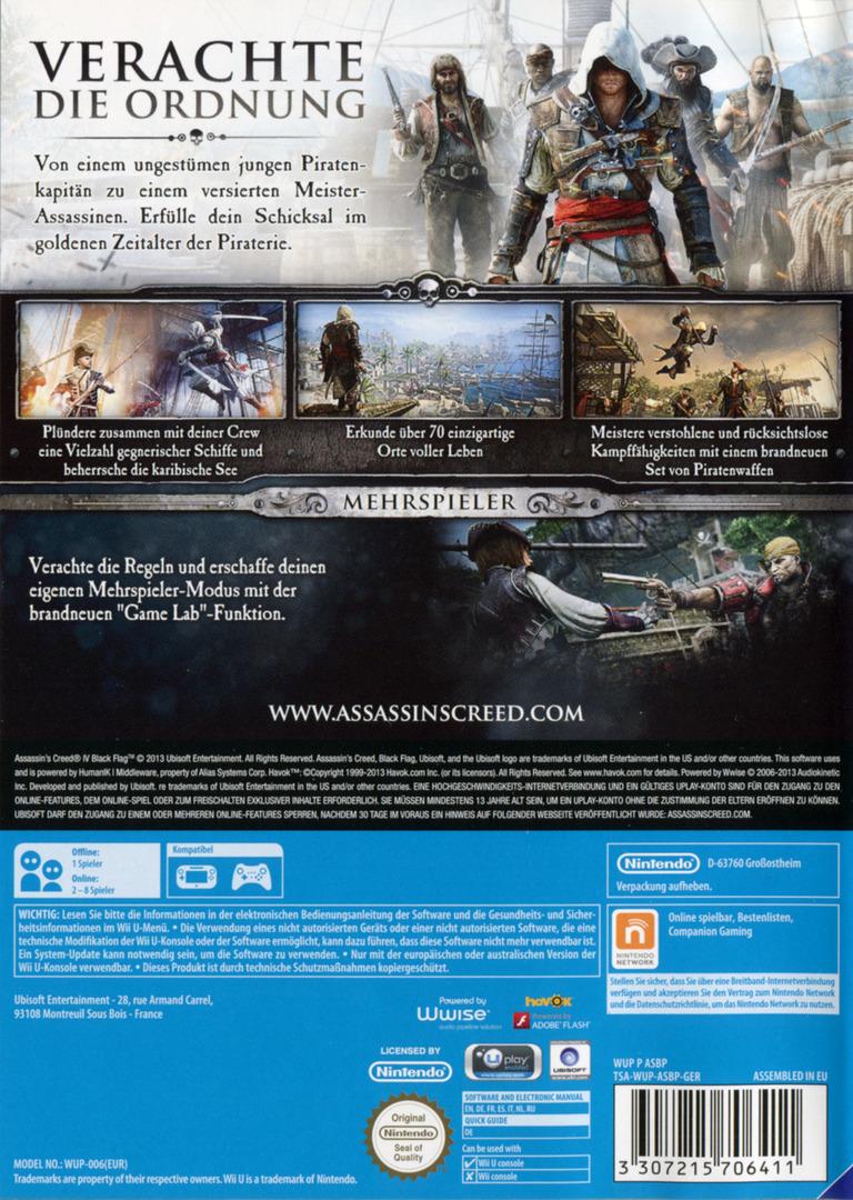 Assassin's Creed IV: Black Flag WiiU backHQ (ASBP41)