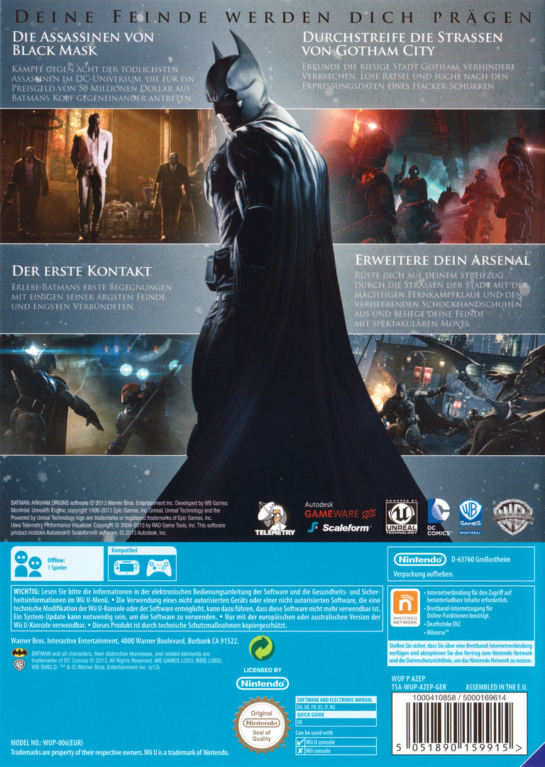 Batman : Arkham Origins WiiU backHQ (AZEPWR)