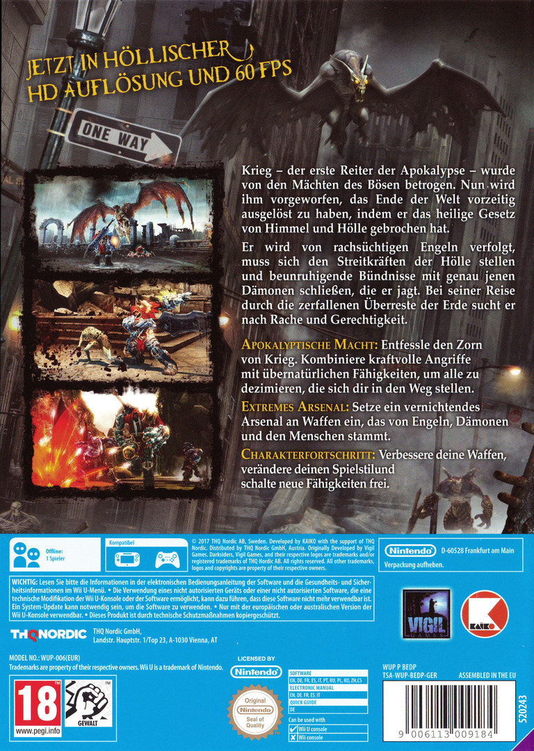 Darksiders - Warmastered Edition WiiU backHQ (BEDP6V)