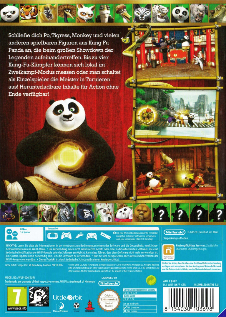 Kung Fu Panda: Showdown der Legenden WiiU backHQ (BKFPVZ)