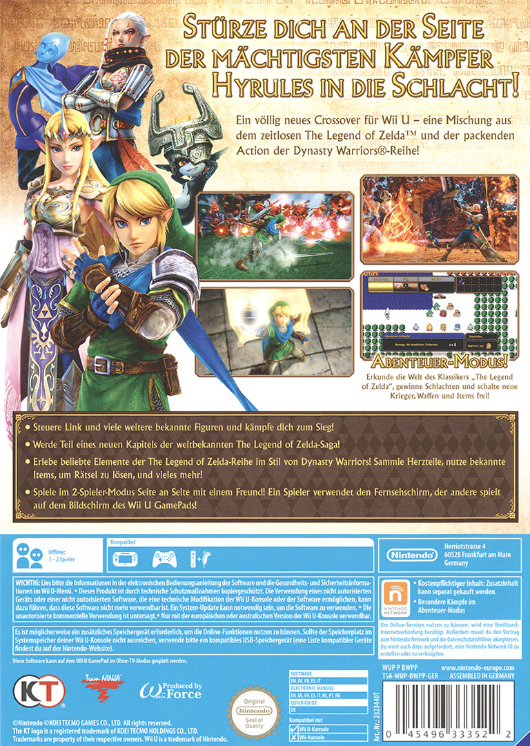 Hyrule Warriors WiiU backHQ (BWPP01)