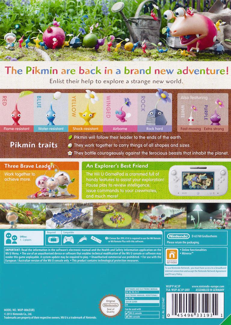 Pikmin 3 WiiU backHQ (AC3P01)