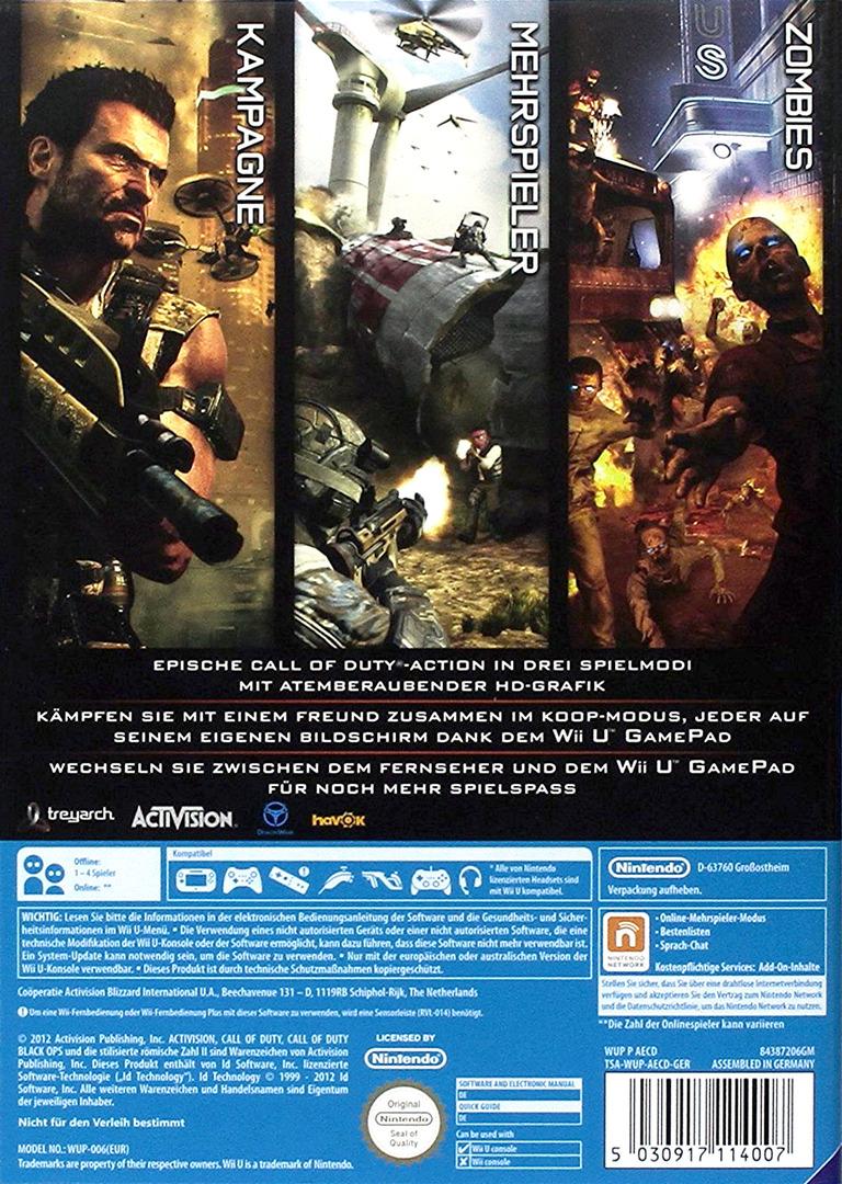 Call of Duty: Black Ops II WiiU backHQ (AECD52)