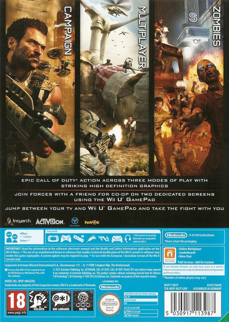 Call of Duty: Black Ops II WiiU backHQ (AECP52)
