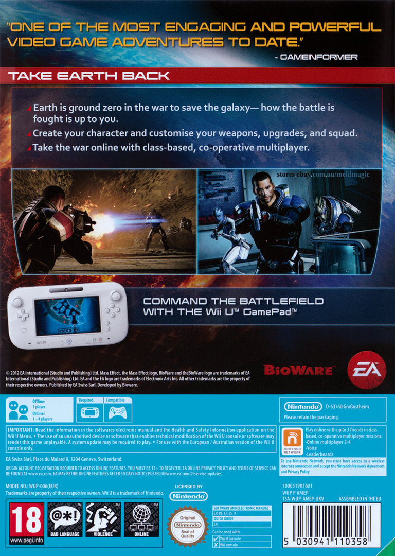 Mass Effect 3 - Special Edition WiiU backHQ (AMEP69)