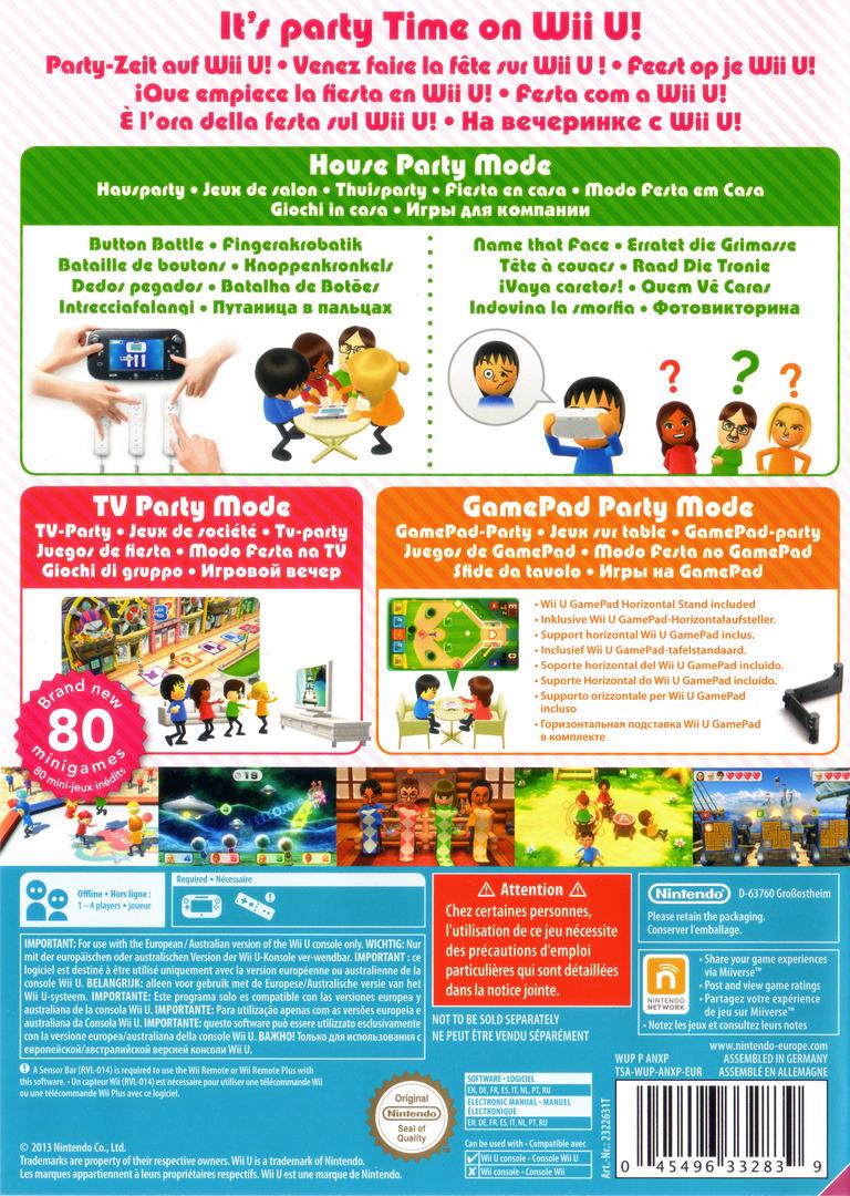Wii Party U WiiU backHQ (ANXP01)
