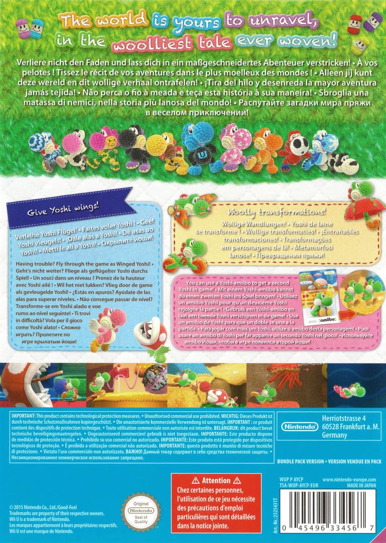 Yoshi's Woolly World WiiU backHQ (AYCP01)