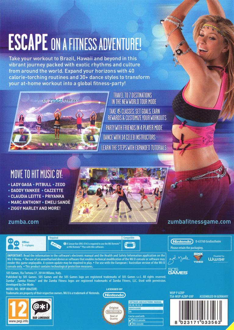 Zumba Fitness World Party WiiU backHQ (AZBPGT)