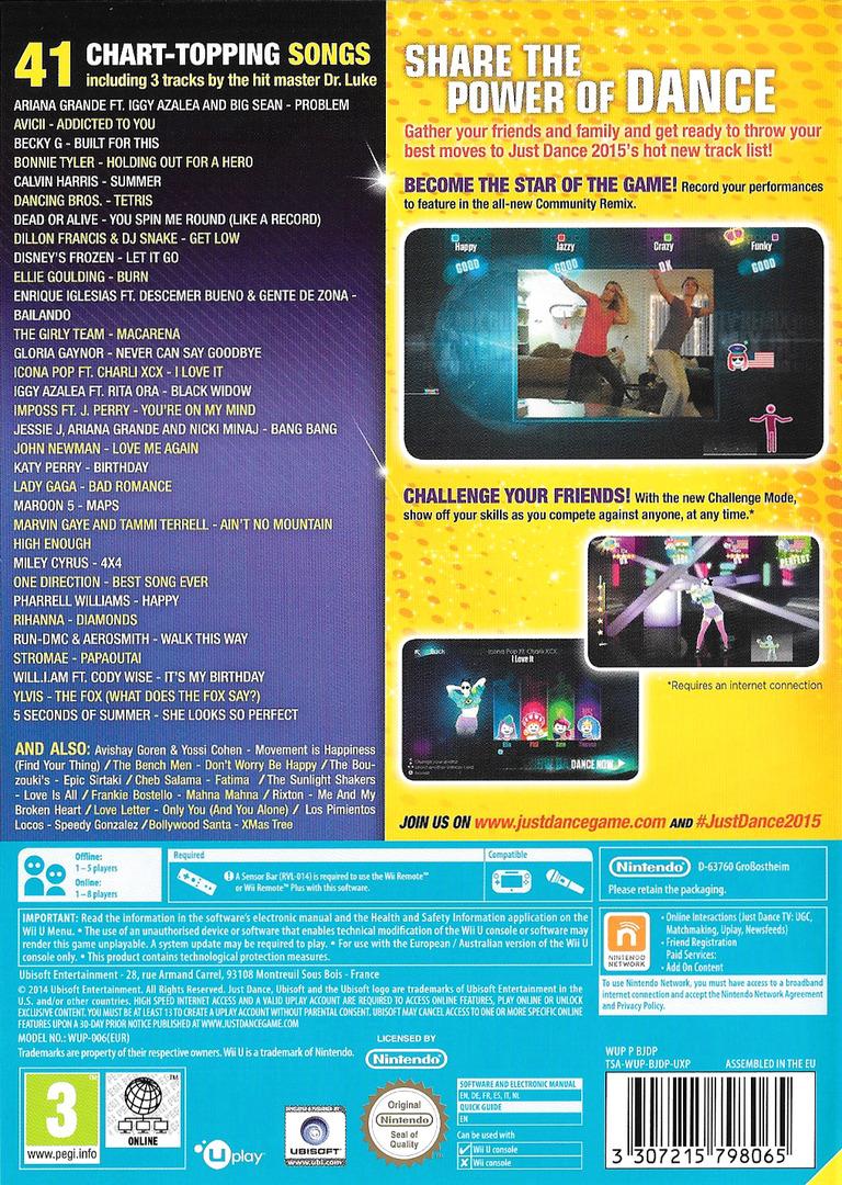 Just Dance 2015 WiiU backHQ (BJDP41)