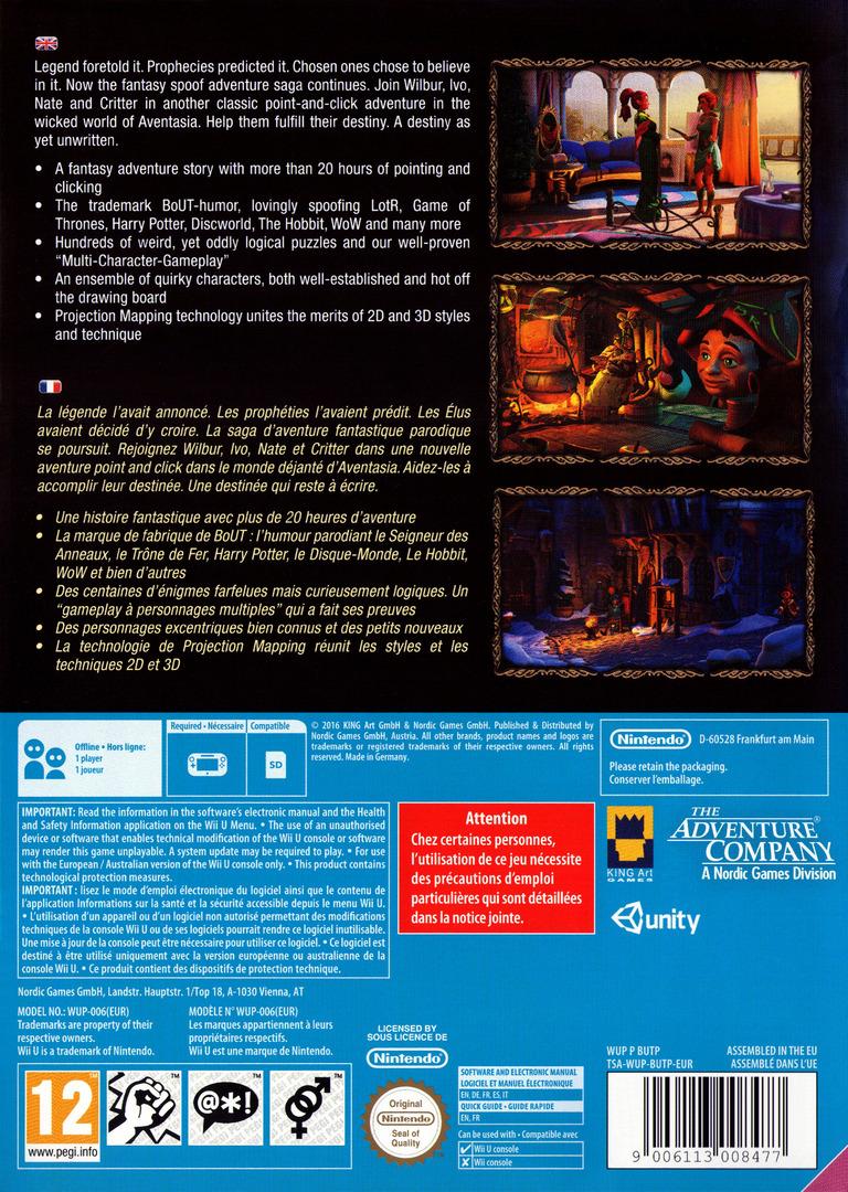 The Book of Unwritten Tales 2 WiiU backHQ (BUTP6V)